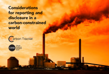 Considerations for reporting and disclosure in a carbon-constrained world