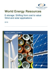 World Energy Resources Report 2016, E-storage - shifting from cost to value 2016 – wind and solar applications