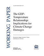The GDP-temperature relationship: implications for climate change damages