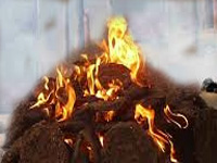 Burning of cow dung cakes near Taj Mahal banned