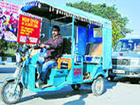 Battery-operated rickshaws plying on Jammu roads without permission