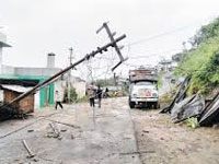 Over 1000 houses damaged in thunderstorm in Nagaland